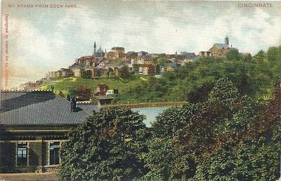 Cincinnati, Oh: 1910: Distant And Different View Of Mt. Adams From Eden Park