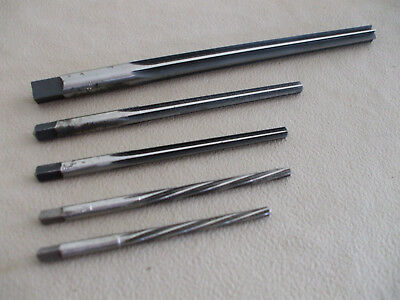 5 Usa Made Taper Pin Reamers National S.t. Co.
