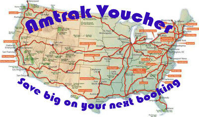Amtrak Voucher, Discounted to sell quick and help you save big! Value of $314