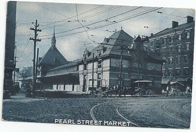 Cincinnati, Oh: 1910: Delivery Wagon In Front Of Pearl St. Market