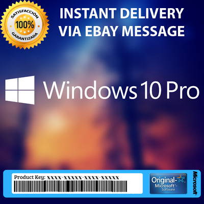 Windows 10 PRO ESD Product Key 32 & 64 Bit Activation Code License Genuine
