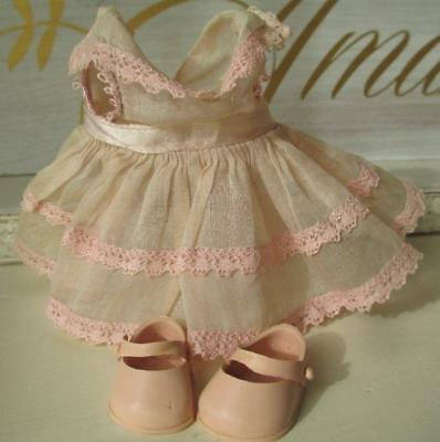 Vintage Vogue Ginny Doll Pink Dress & Ginnette Pink Shoes