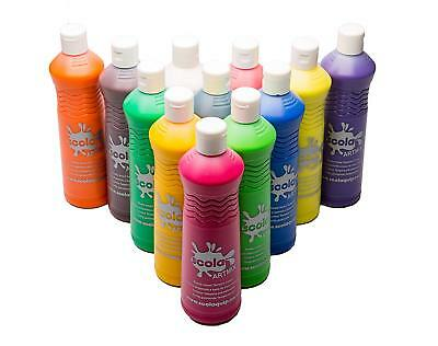 Scola Artmix Ready Mix Coloured Paint, 12 x 600 m - Pack of 12 FAST