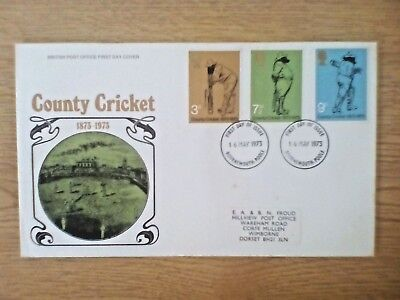 GB First Day Cover, 1973 May - County Cricket..fdc