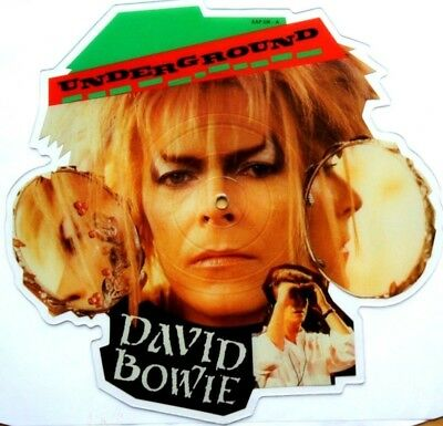 NEAR MINT! David Bowie Underground Shaped Vinyl Picture Pic Disc from Labyrinth