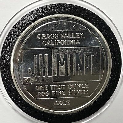 JH Mint California Collectible Coin 1 Troy Oz .999 Fine Silver Round Medal 999