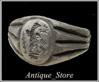 ** AQUILA-LEGIONARY EAGLE **Ancient Silver Legionary Roman Ring **AMAZING **