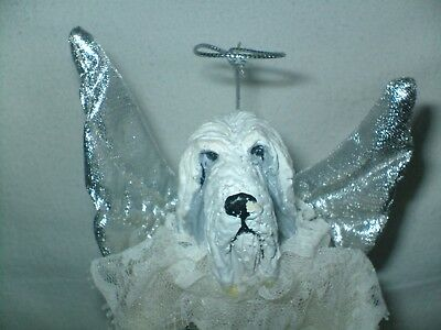 Bearded Collie Dog Guardian Angel Tree Topper Two Sisters & Company?