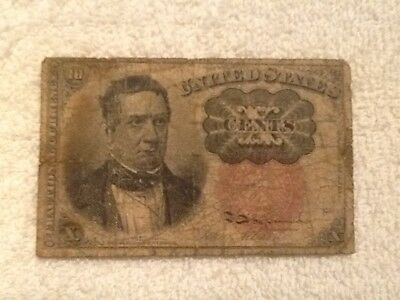 10 Ten Cents Fractional Currency Paper Note Fathers Estate