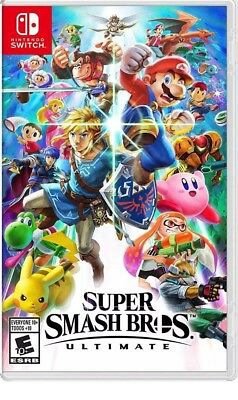 Super Smash Bros Ultimate Game for Nintendo Switch Standard Edition New Sealed