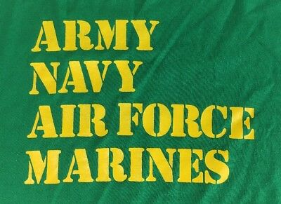 VINTAGE T SHIRT 70s Military 1970's Marines Army Navy Air Force PUNK ROCKER