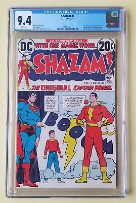 Shazam #1 Cgc 9.4 Dc Comics 1973 1St Captain Marvel Mary Marvel Hot ✔