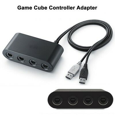4 Ports USB GameCube Controller Adapter for Nintendo Wii U & PC & Switch USB New