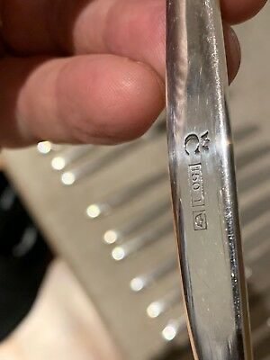 Modern Christofle? Premium Silver Flatware 150 I C with Crown over