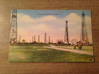 Postcard Of A Typical Oklahoma Oil Field