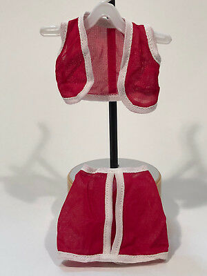 Vintage Kenner Darci Doll Clone Mini Skirt And Matching Vest Red Gc