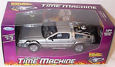 Welly Diecast 1:24 Delorean Time Machine Model- Back To The Future 1 - 22443 New