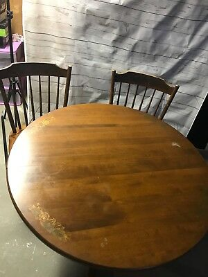 Hitchcock Dining Table with 4 chairs and custom table pads