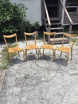 Mid Century Modern Set Of 4 Melchiorre Bega Style Dining Chairs