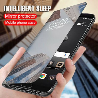 Luxury Mirror Flip Case Smart Stand View Cover Samsung Galaxy Note 8 9 S9 S8Plus
