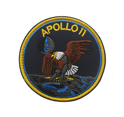 NASA APOLLO 11 Mission 50TH ANNIVERSARY Morale Hook Patch Embroidered Badge*PN1