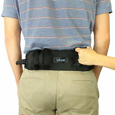 Transfer Belt With Handles by Vive - Medical Nursing Safety Gait Assist Device -