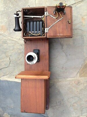Western Electric 232E Walnut Magneto Rural Antique Telephone – Very well marked