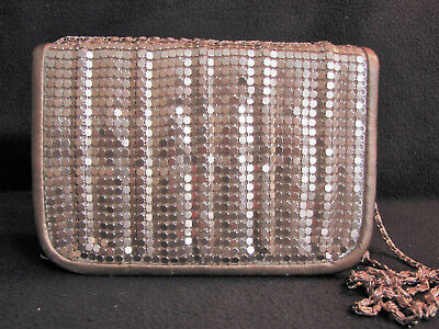 Vintage Y & S Original Gold Metal Mesh Disco Bag Purse ~ 1960s ~ Excellent!!!