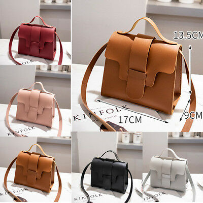 Women Faux Leather Small Handbag Satchel Messenger Cross Body Shoulder Bag Purse