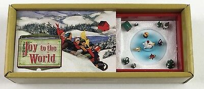 Mr. Christmas Gold Label Joy To The World Matchbox Melodies Animated Music Box