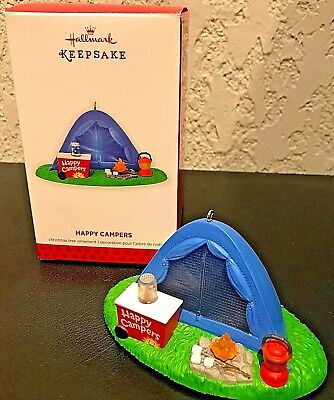 2013 Hallmark Happy Campers Christmas Ornament Tent Nib New