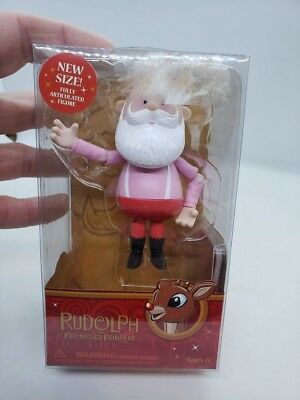 Rudolph The Red Nosed Reindeer SANTA Forever Fun Poseable Figurine Christmas Toy