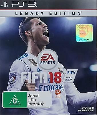 Brand New Sony Playstation 3 PS3 Game Fifa 18 Legacy Edition Free Post EA Sports
