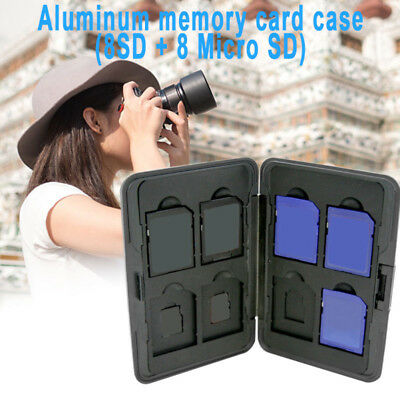 Memory Card Storage Box Case Holder with 8 Slots For SD SDHC MMC Micro SD Card