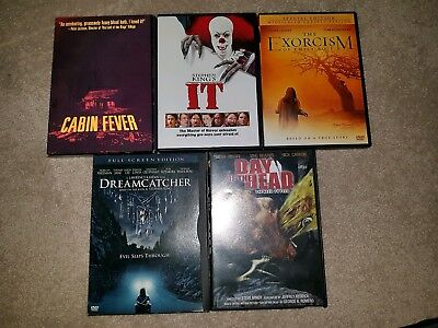 Dvd Lot Horror Cabin Fever, It (old), Dreamcatcher, 5 movies