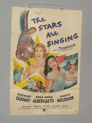 The Stars Are Singing (1953) 27X41  Rosemary Clooney, GOOD, VG 00076