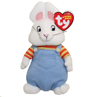 """Ty Beanie 7"""" MAX the Bunny (from Max & Ruby - Rosemary Wells) - MWMT"""