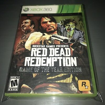 Red Dead Redemption Game of the Year Edition (Microsoft Xbox 360, 2011) Complete