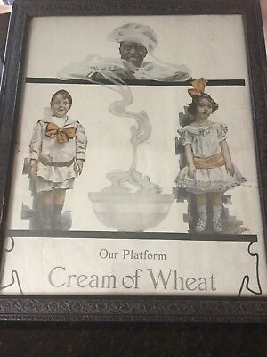 1914 Old Magazine print ad. Cream of Wheat Cereal, Our Platform Ht. Benton Art