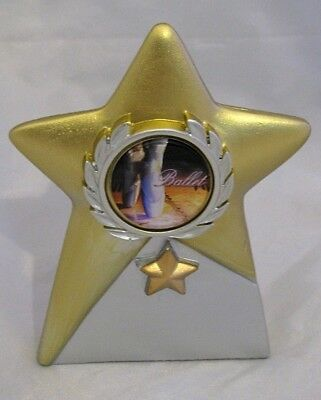 Dance  Ballet Star Trophy 105mm Engraved