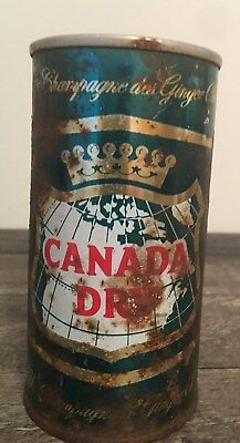 Vtg Flat Top Canada Dry Ginger Ale Can