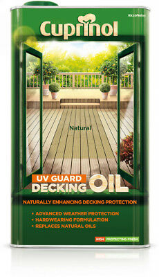Cuprinol UV Gaurd Decking Oil  In  A Selection of Natural Colours  5 Litre