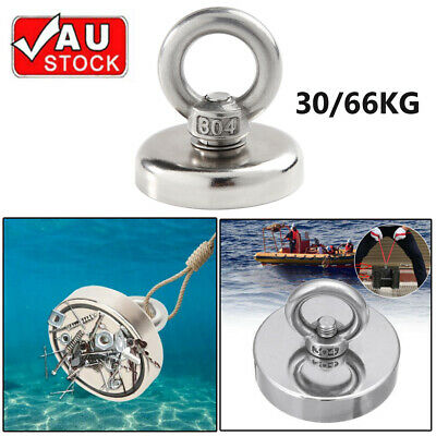 66KG Recovery Magnet Hook Strong Sea Fishing Diving Treasure Hunting AU Stock OZ