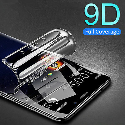 For Samsung Galaxy S9 8 Plus Slim Soft Film Hydrogel Screen Protector Case Cover
