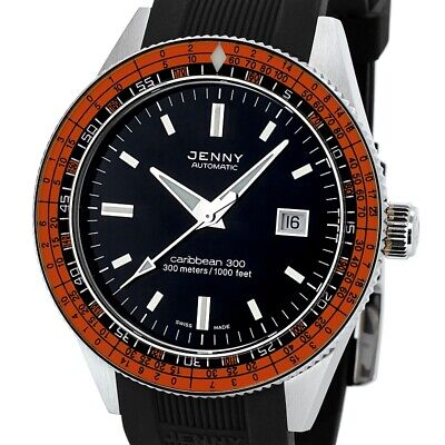 New Jenny Caribbean 300 Blue Dive Diving Watch by  DOXA Limited Edition Bead Bra