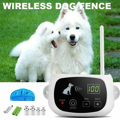 3 Dog Fencing System Wireless Electric Dog Pet Fence Containment System Lot UR