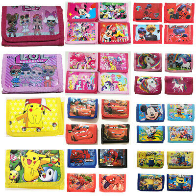 Kids Boys Girls Cartoon Purse Wallet Coin Purse Minnie Mouse My Little Pony LOL