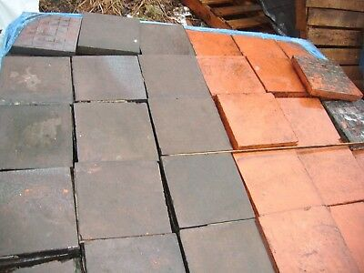 "Quarry tiles 9 ""x 9"" reclaimed quarry tiles"