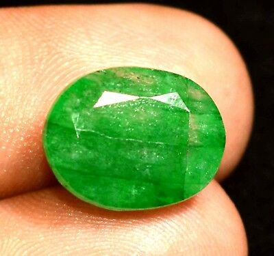 6.90 Ct Natural Green Colombian Emerald GGL Certified Oval Cut Loose Gemstone
