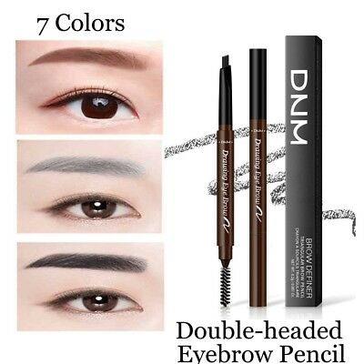 Double Head Triangle Eyebrow Pencil With Brush Waterproof Brow Definer Pen Hot